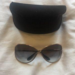 "Tom Ford ""Miranda"" Sunglasses - Gold Hardware"
